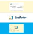 beautiful grains bag logo and business card vector image