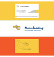 beautiful whistle logo and business card vertical vector image vector image