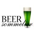 beer sommelier banner vector image