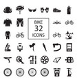 bike 32 icons vector image vector image