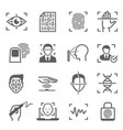 biometric digital identification and safety vector image vector image