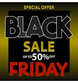 black friday sale background for poster vector image vector image