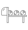 bowling balls icon outline style vector image