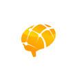 brain connection logo design template vector image vector image