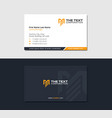 business card for engineering and construction