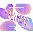 business online text isometric design - colorful