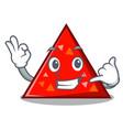 call me triangel mascot cartoon style vector image vector image