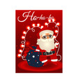 cartoon santa claus with present boxes bag vector image vector image