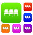 chairs in the departure hall set collection vector image vector image