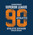 championship sport typography t-shirt graphics vector image vector image