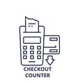 checkout counter line icon concept checkout vector image vector image