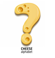Cheese alphabet element number vector image vector image
