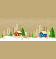 christmas and new year card christmas tree vector image