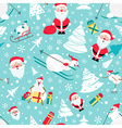 Christmas seamless pattern Colour flat design with vector image vector image