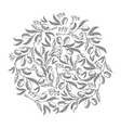 circle pattern olive blossom doodle vector image