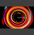 colorful circle on a black vector image vector image