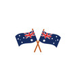 crossed flags nation australia icon on white vector image
