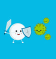 cute happy funny strong tablet vector image vector image