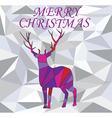 diamond deer vector image