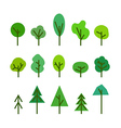 Different tree silhouettes clip-art vector image vector image