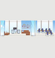 empty no people creative co-working area workspace vector image vector image