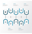 exploration outline icons set collection of vector image