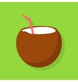 Fresh Drinking Coconut Cocktail vector image vector image