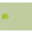 give me feedback speech bubble with empty bubbles vector image vector image