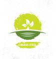 grass fed organic local farm fresh eco creative vector image vector image
