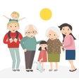 Happy family portrait Family isolated on white vector image vector image
