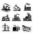 icons collection of different power plants and vector image vector image