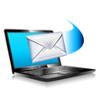 Internet Laptop Mail SMS vector image