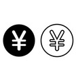 japanese yen currency symbol icon vector image vector image