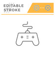 joystick line icon vector image