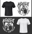 knight warrior with shield and sword t-shirt print vector image vector image