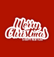 lettering in popular style merry christmas vector image vector image