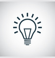 light bulb icon for web and ui on white background vector image