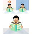 Man reading a book concept vector image