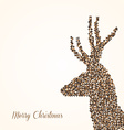 Merry Christmas abstract reindeer vector image