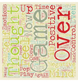 Mind Games text background wordcloud concept vector image vector image