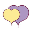 nice hearts to love and romance symbol vector image vector image