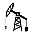 oil rig icon simple black style vector image vector image