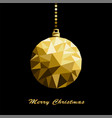 origami style gold christmas toy isolated vector image