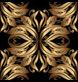 ornate gold 3d baroque seamless pattern floral vector image vector image