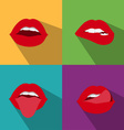 pop art woman lips vector image