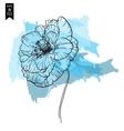 Poppy design floral background vector image