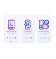 programming thin line icons set mobile vector image