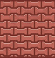 red concrete h shaped paving slabs surface vector image vector image