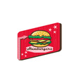 Retro 1950s Diner Hamburger Sign vector image vector image