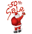 Santa Claus sale - 50 vector image